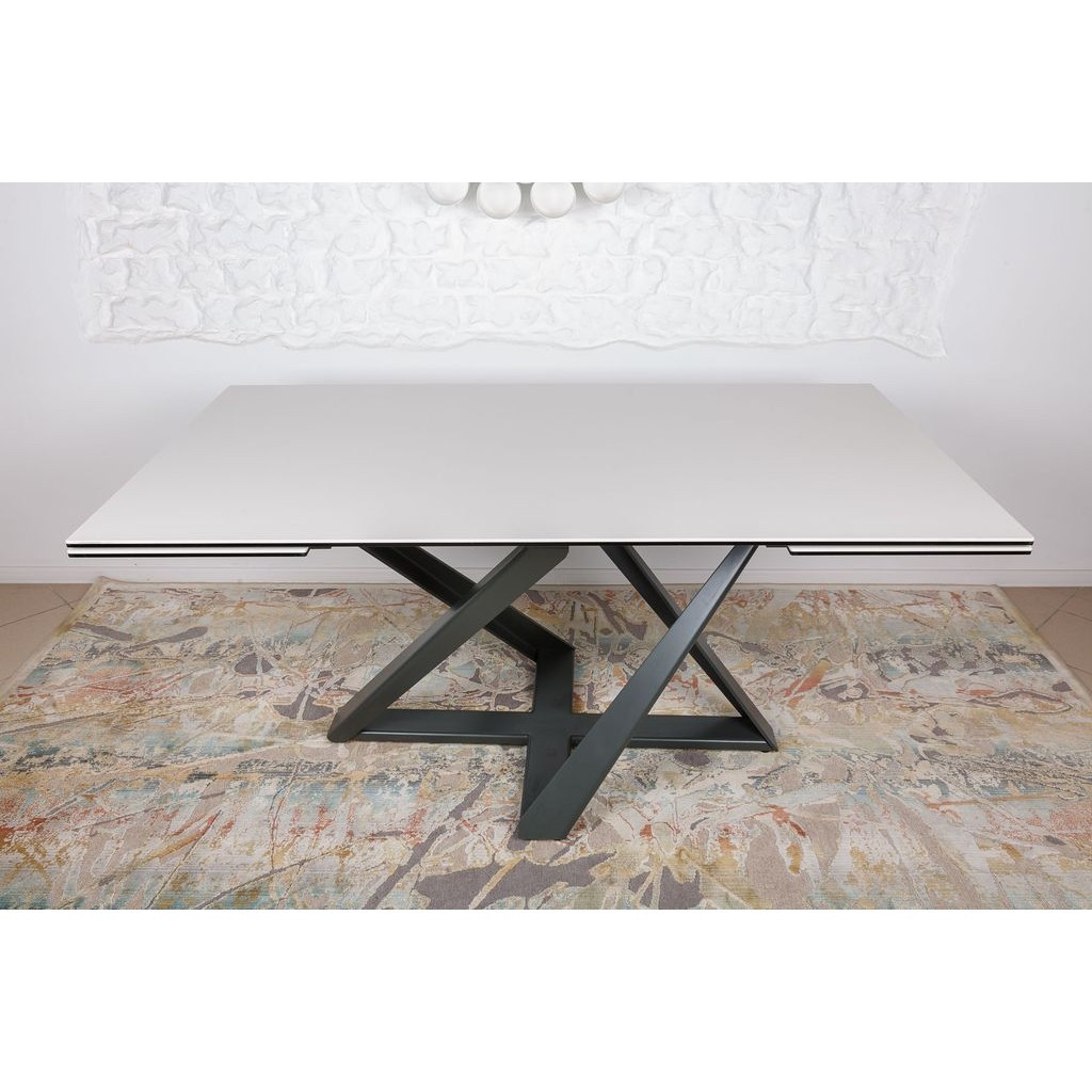 Fleetwood (Флитвуд) стол раскладной 160-240 см керамика молочный
