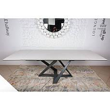 Fleetwood (Флитвуд) стол раскладной 160-240 см керамика молочный, фото 3