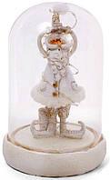 """Новогодняя декоративная композиция """"Санта под колпаком"""" с LED-подсветкой 11.5х11.5х17.5см"""