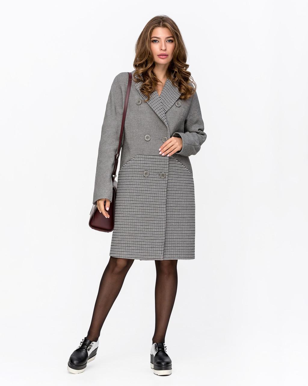 Модное осеннее пальто 42 по 50 размер