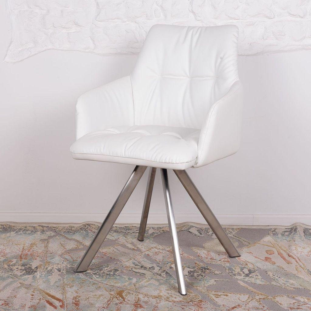 Leon (Леон) кресло поворотное кожзам белый