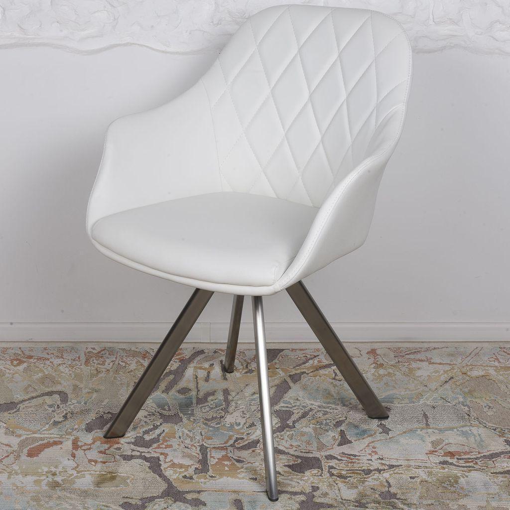 Almeria (Альмерия) кресло поворотное кожзам белый