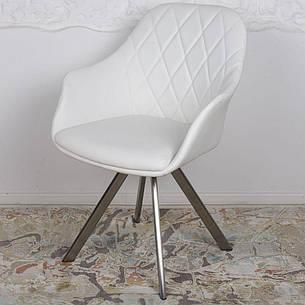 Almeria (Альмерия) кресло поворотное кожзам белый, фото 2