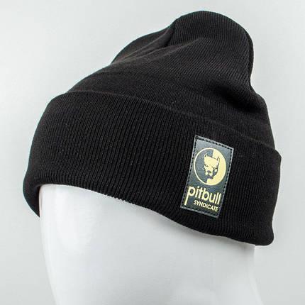 Молодежная шапка Рожки Pitbull (реплика) черный, фото 2