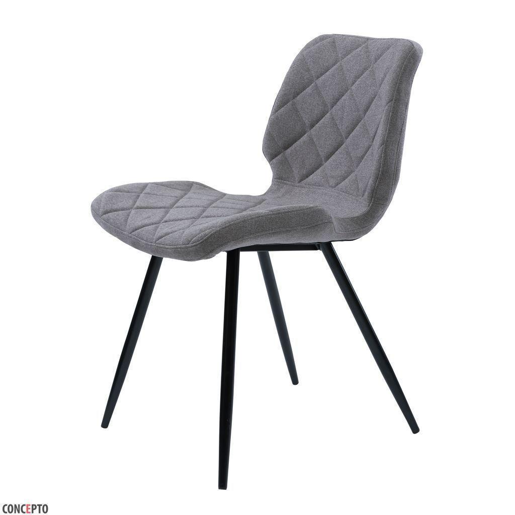 Diamond (Даймонд) стул обеденный текстиль серый