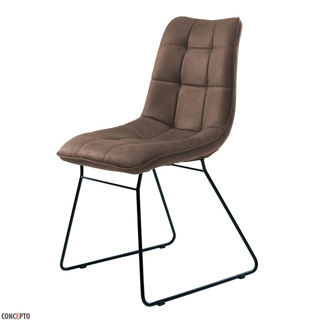 Nord (Норд) стул на полозьях текстиль коричневый, фото 1