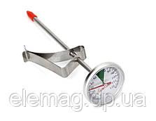 Термометр для молока механический с креплением выделенная зеленая шкала 55-70°C