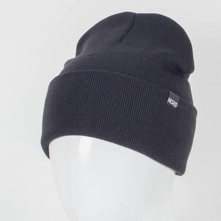 Молодежная шапка Рожки Nord черный, фото 2