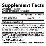 Doctor's Best, Альфа-липоевая кислота (Best Alpha-Lipoic Acid), 600 мг, 60 растительных капсул, фото 3
