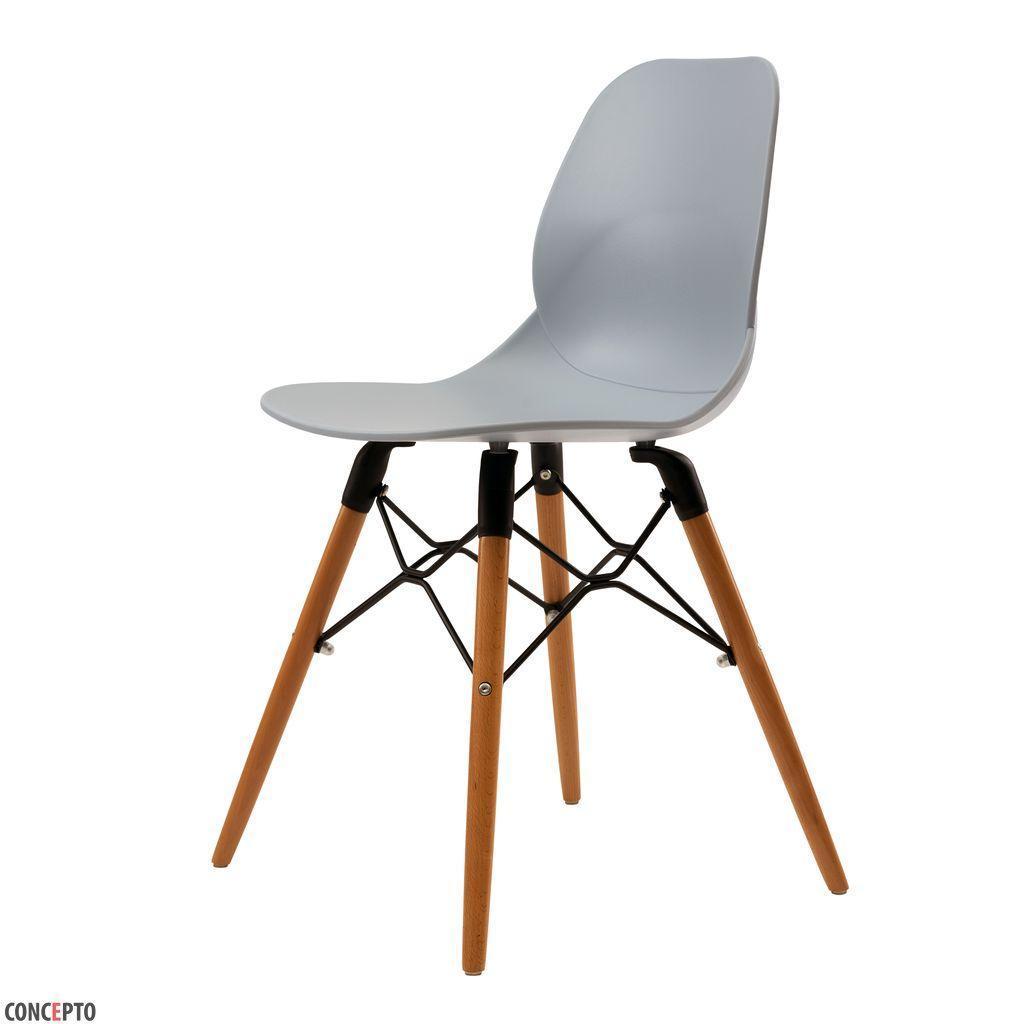 Friend (Френд) Concepto стул пластиковый серо-голубой