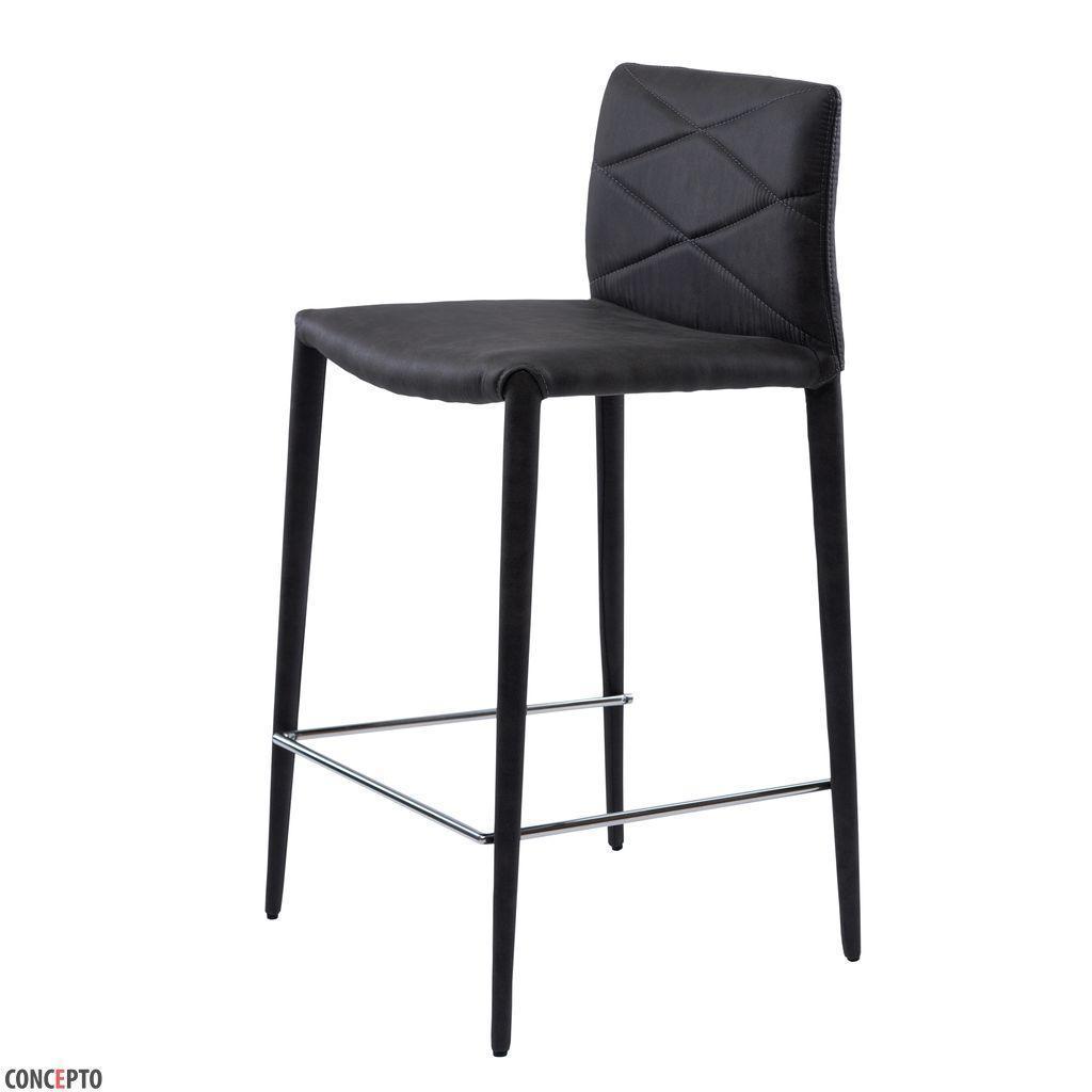 Volcker (Волкер) барный стул текстиль нефтяной серый