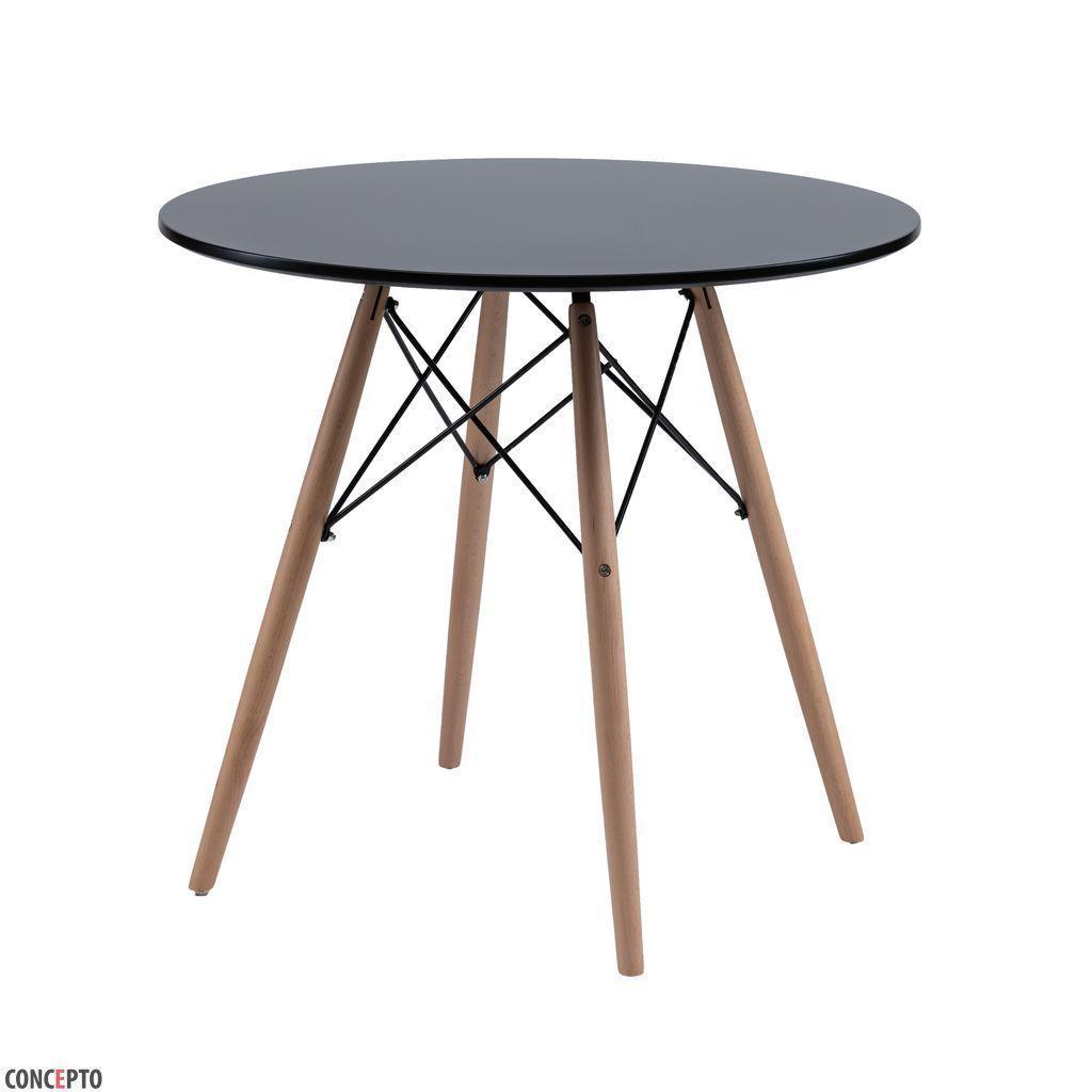 Redonda (Редонда) стол обеденный чёрный 80 см