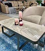 Стол журнальный SHEFFIELD керамика светло-серый глянец