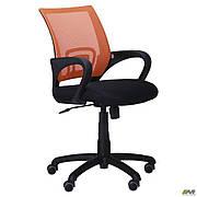 Крісло Веб сидіння Сітка чорна/спинка помаранчева Сітка