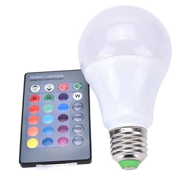 Cветодиодная LED лампочка 4W с пультом цветная + белый свет RGBW поддержка димера анимация цветов
