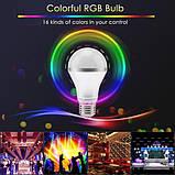 Cветодиодная LED лампочка 4W с пультом цветная + белый свет RGBW поддержка димера анимация цветов, фото 7
