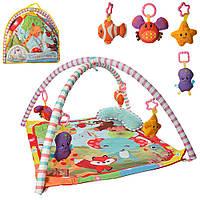 Детский коврик для младенца с дугами и подвесками