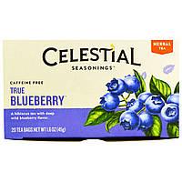 Celestial Seasonings, Травяной чай, без кофеина, Черника, 20 пакетиков, 1,6 унции (45 г)