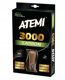 Ракетка для настольного тенниса Atemi 3000 PRO CARBON + 6 шариков в подарок