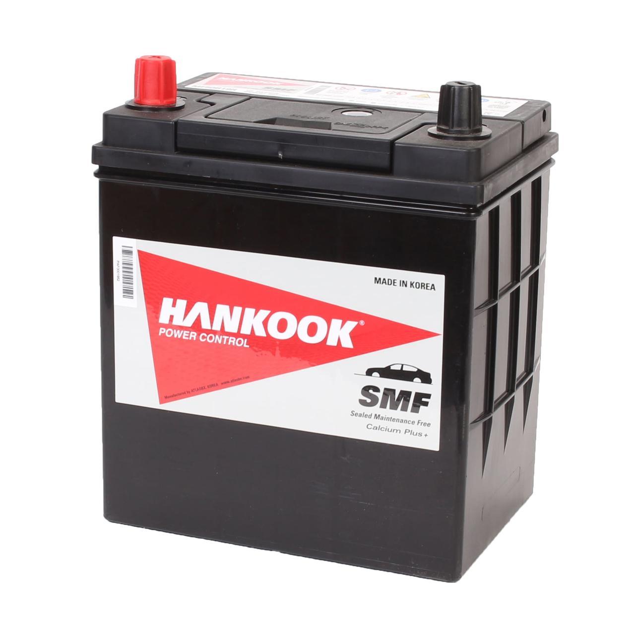 Аккумулятор автомобильный HANKOOK SMF 6CT 42Ah ASIA, пусковой ток 380А [+ –] (MF50B19R)