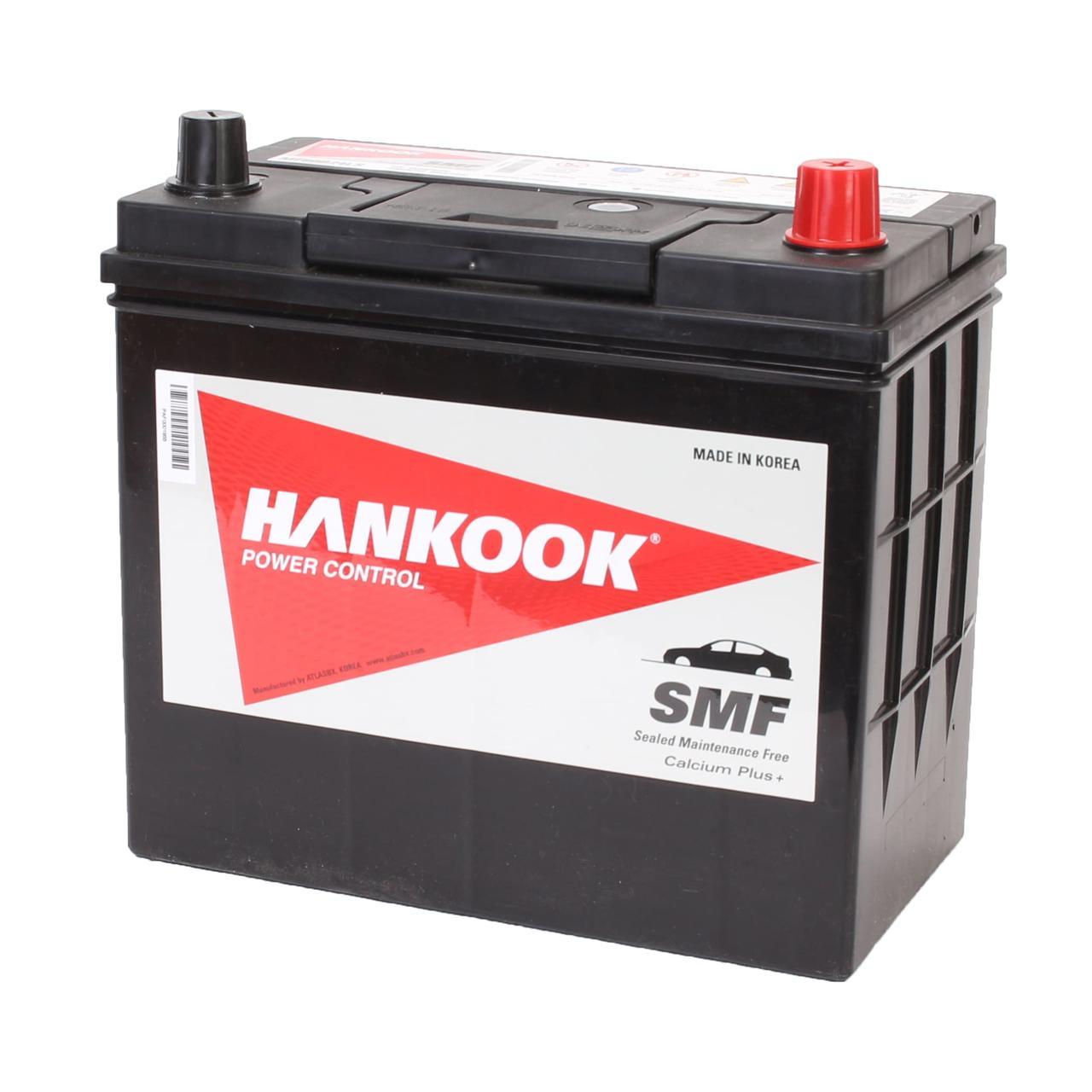 Аккумулятор автомобильный HANKOOK SMF 6CT 48Ah ASIA, пусковой ток 460А [–|+] (MF60B24LS)