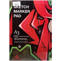 Склейка для рисования Sketch Marker Pen А3, 100 г/м2, 30 листов