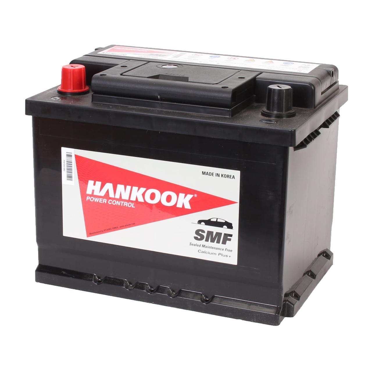 Аккумулятор автомобильный HANKOOK SMF 6CT 62Ah, пусковой ток 540А [+|–] (MF56220)