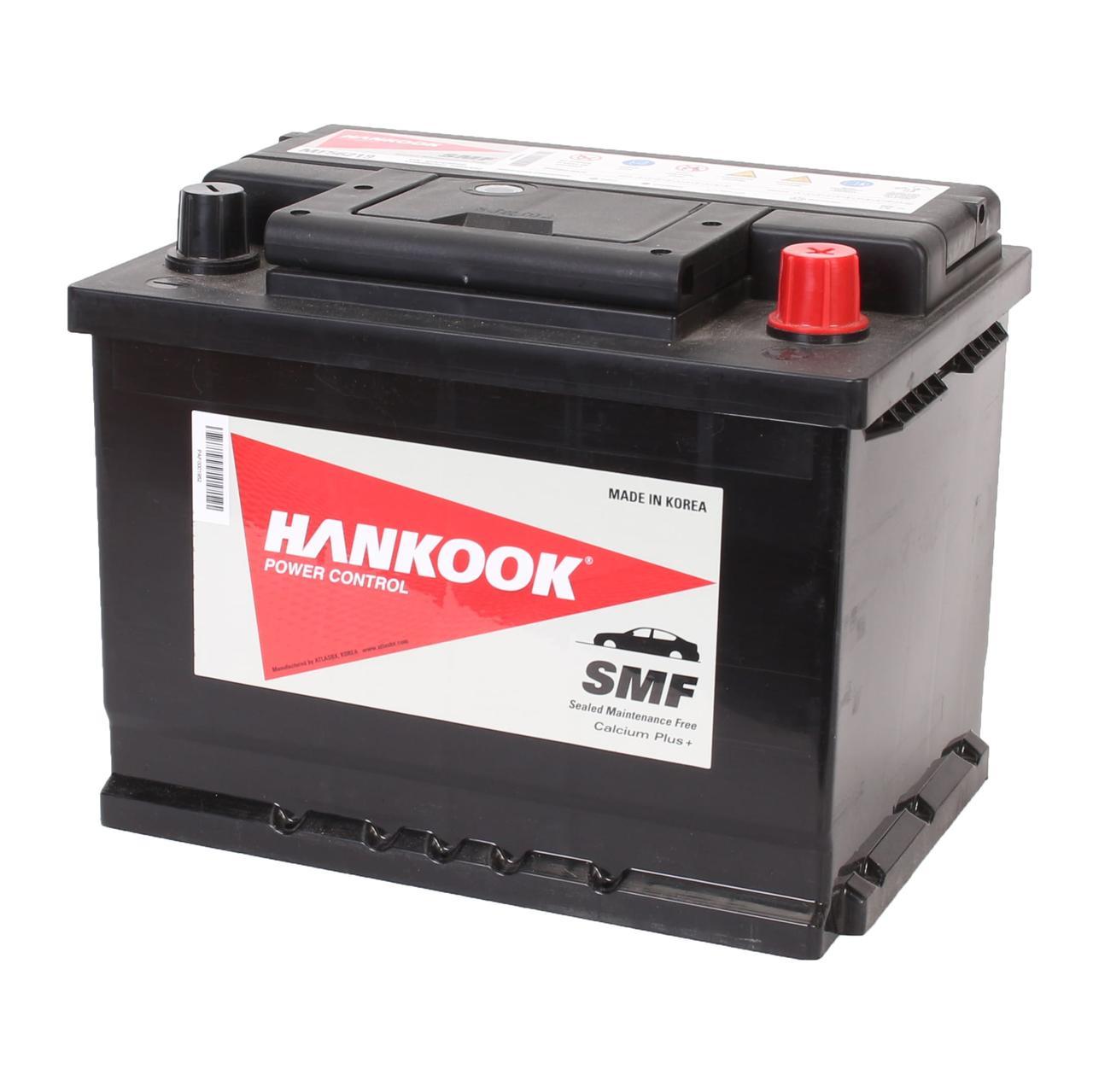 Аккумулятор автомобильный HANKOOK SMF 6CT 62Ah, пусковой ток 540А [–|+] (MF56219)