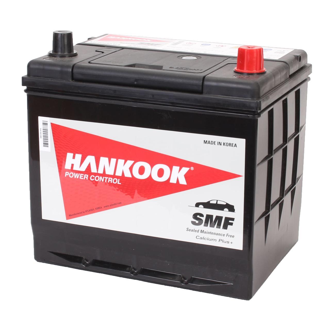 Аккумулятор автомобильный HANKOOK SMF 6CT 65Ah ASIA, пусковой ток 580А [–|+] (MF75D23FL)