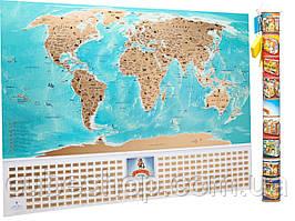 Скретч карта мира с флагами My Map Flags Edition (русский язык) в тубусе
