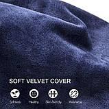 Подушка надувная Woqi, U-образная, подголовник для поездок, путешествий для поддержки шеи, головы, фото 5