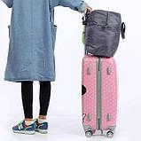 Вместительная дорожная сумка для ручной клади или багажа, складывается в мешочек, фото 9