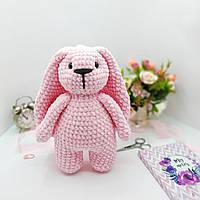 Плюшевий Зайчик іграшка ручної роботи подарунок дитині, фото 1