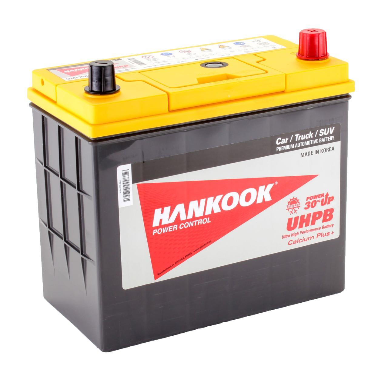 Аккумулятор автомобильный HANKOOK UMF 6CT 55Ah ASIA, пусковой ток 480А [–|+] (75B24LS)