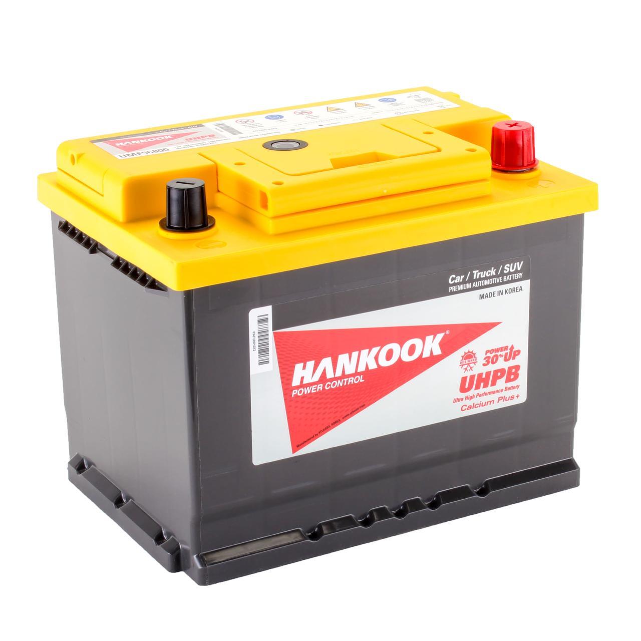 Аккумулятор автомобильный HANKOOK UMF 6CT 68Ah, пусковой ток 610А [– +] (56800)