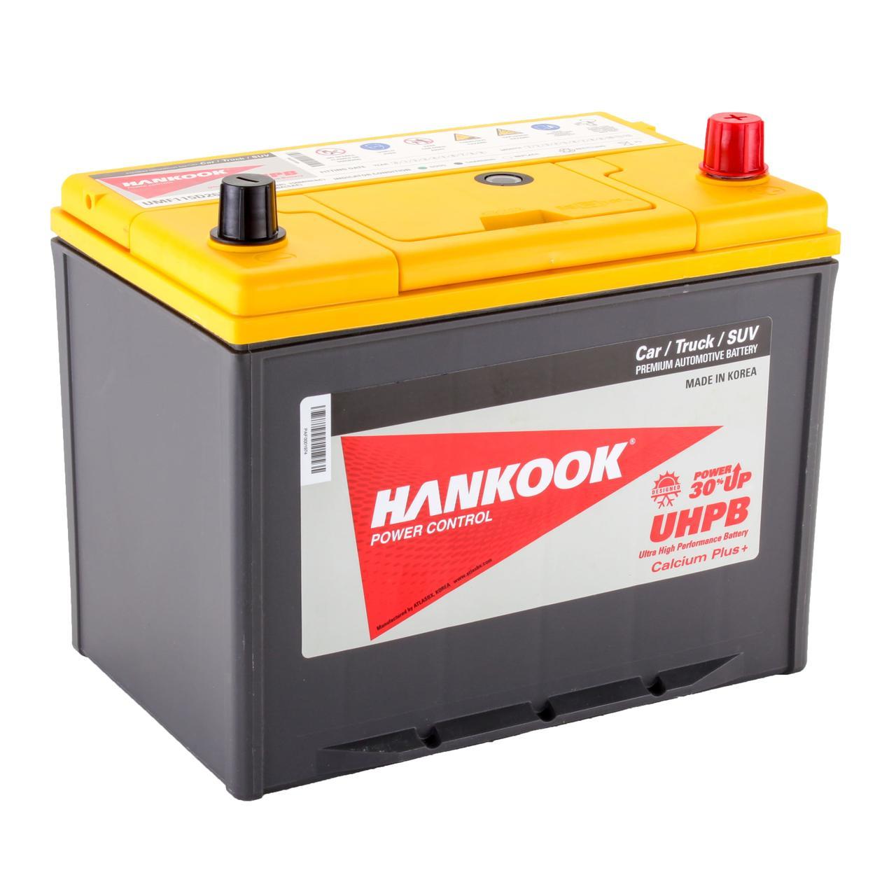 Аккумулятор автомобильный HANKOOK UMF 6CT 85Ah ASIA, пусковой ток 750А [– +] (115D26L)