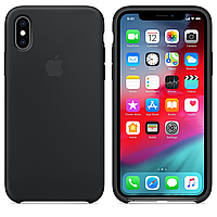 Чехол для Apple iPhone XS Silicone Case Black MRW72ZM/A Противоударный с Подкладкой из микрофибры