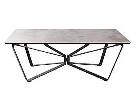 Стол журнальный LUTON R (125*70*44см) керамика ствело-серый