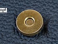 Магнит для сумки, р. 18 мм, цв. белое золото