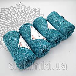 Трикотажный шнур с люрексом Star, цвет Бирюза