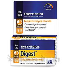 Enzymedica, Digest, полноценная пищевая добавка с энзимами, 30 капсул
