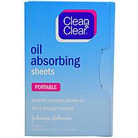 Clean & Clear, Салфетки, впитывающие масло, дорожные, 50 салф