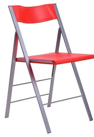 Стул Ибица алюм пластик красный, фото 2