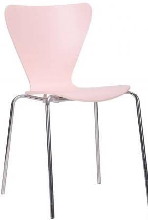 Стул Левис хром Нежный персик, фото 2