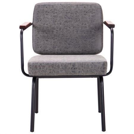 Кресло Oasis черный / бетон