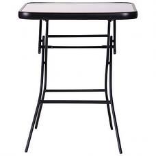 Стол Mexico черный, стекло черный, фото 2