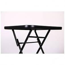 Стол Mexico черный, стекло черный, фото 3
