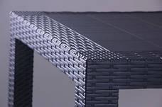 Стол Saturno 80х80 пластик под ротанг антрацит, фото 2