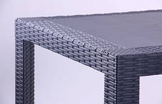 Стол Saturno 80х80 пластик под ротанг эспрессо, фото 3