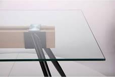 Стол обеденный Корлеоне черный/стекло прозрачное, фото 3
